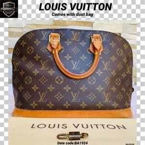 Louis Vuitton satchel bag alma monogram